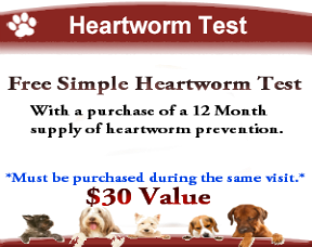 Woodstock Vet Clinc-Free Heartworm Test